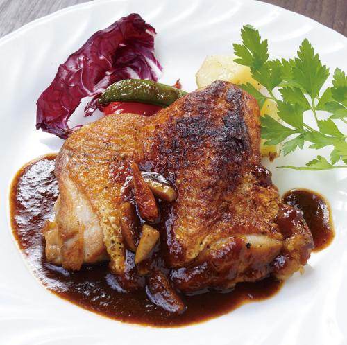 美桜鶏(みおうどり)もも肉のディアヴォラ風